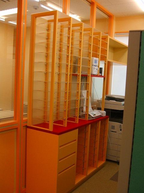 事務所オリジナル棚