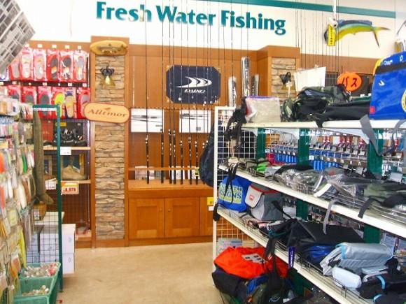 釣り具店店内改装